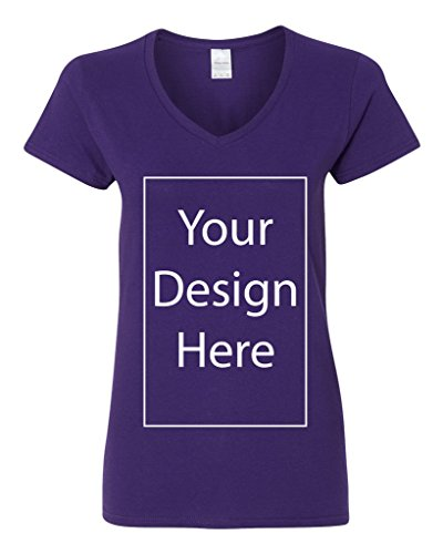 V-Neck Ladies Add Your Own Text Design Custom