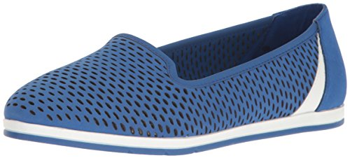 Aerosoles Women's Smart Move Flat Blue Nubuck