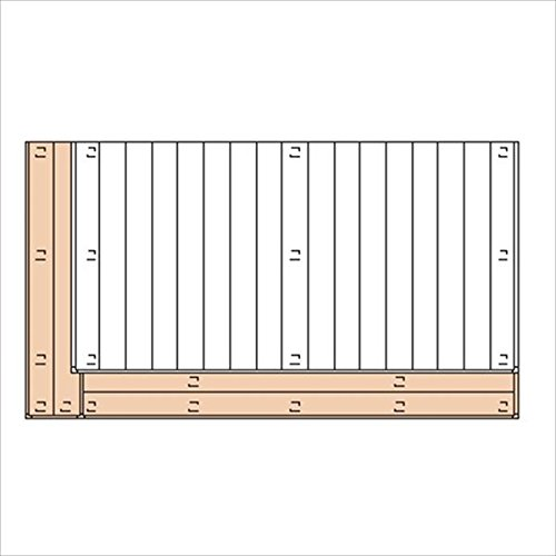 三協アルミ ひとと木2 オプション 2段デッキ(間口+出幅 「片側」) 束連結仕様 1.5間×6尺 『デッキ本体は別売です』 『ウッドデッキ 人工木』  パイン B00TZI6SX6