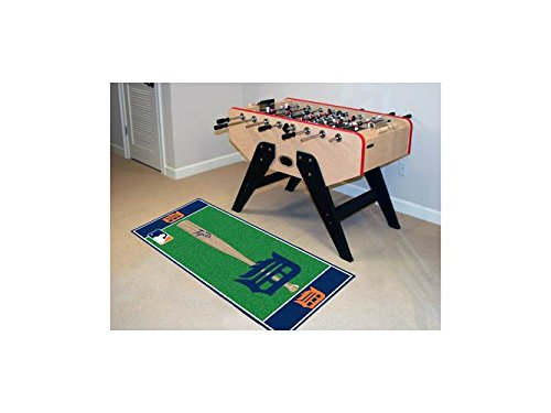 Runner Tigers Football (FANMATS MLB Detroit Tigers Nylon Face Football Field Runner)