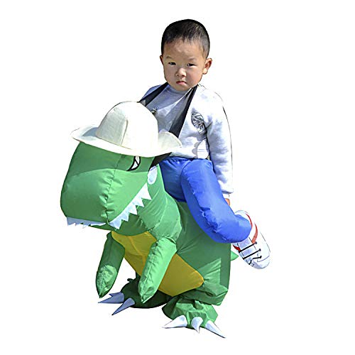 T-REX Dinosaur Inflatable Fancy Dress Suit Unisex Halloween Costume]()