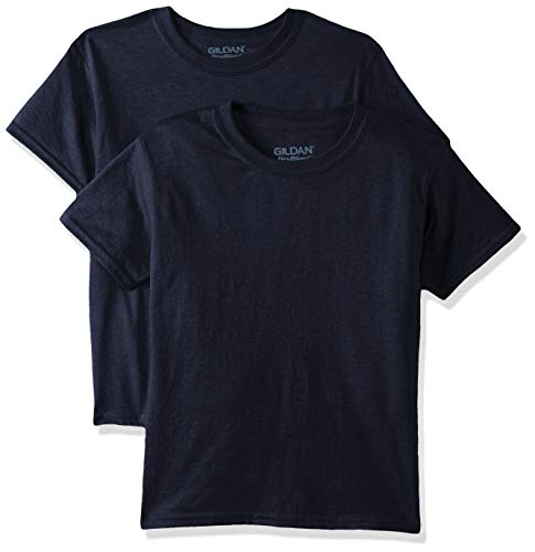 Gildan Kids DryBlend Youth T-Shirt, 2-Pack, Navy, Small