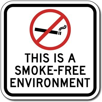 Amazon.com: Señal de ambiente libre de humo con símbolo de ...