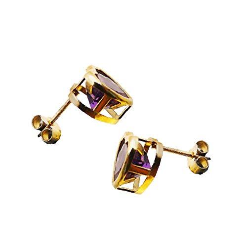 Austral Jewellery Ltd - 9Ct Or Jaune Réel Péridot Boucles D'Oreilles Coeur - Gemme De Naissance Août
