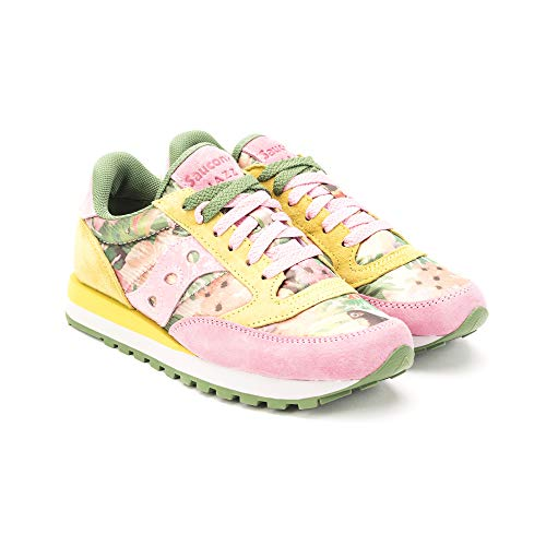 60450 Sparkle Sneakers Floral Jazz Donna Saucony Green Pink d8x7wq