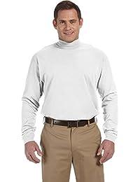 Men's Sueded Cotton Jersey Mock Turtleneck