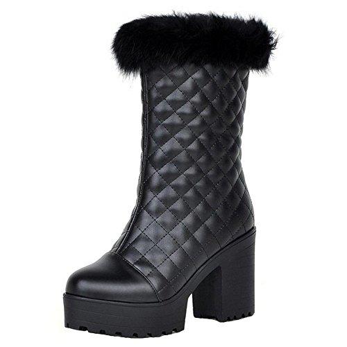 Boots Women's Snow On Black TAOFFEN Pull FqEdn5wnHx