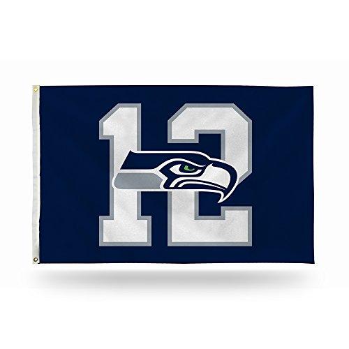 (Rico NFL #12 Seahawks Banner Flag)