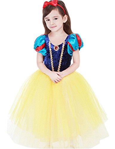 Ninimour Vestido espeso de princesa Blancanieves Disfraces para Halloween Cosplay Costume para Niñas