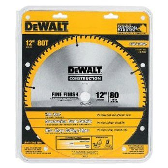 - DEWALT DW3128 Series 20 12-Inch 80 Tooth ATB Thin Kerf Crosscutting Miter Saw Blade with 1-Inch Arbor