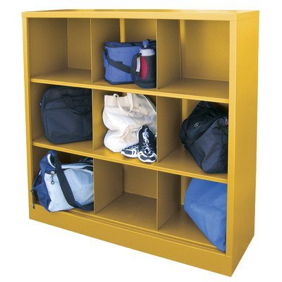 (Sandusky Lee IC00461852-EY Heavy Duty Welded All Steel Cubby Storage Cabinet with 9 Sections, 46