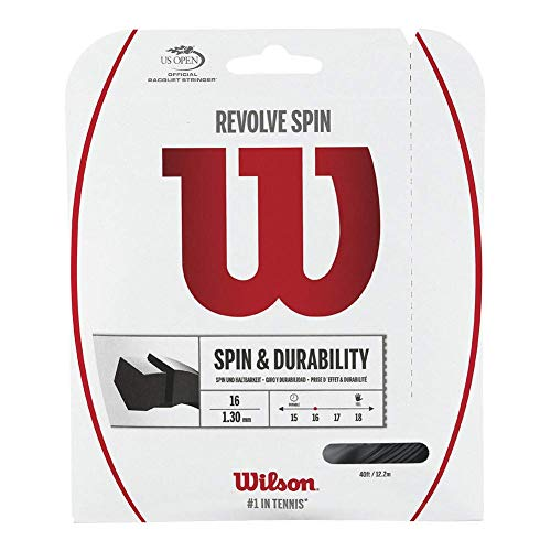Wilson Revolve Spin (17-1.25mm) Tennis String Set (Black) ()