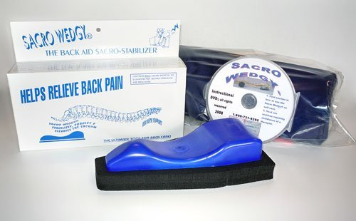 Sacro Wedgy - MALE Version * COMPLETE SYSTEM: Includes Sacro Wedgy Cervical Support. - The Back Aid Sacral Stabilizer - Helps Releive Back Pain