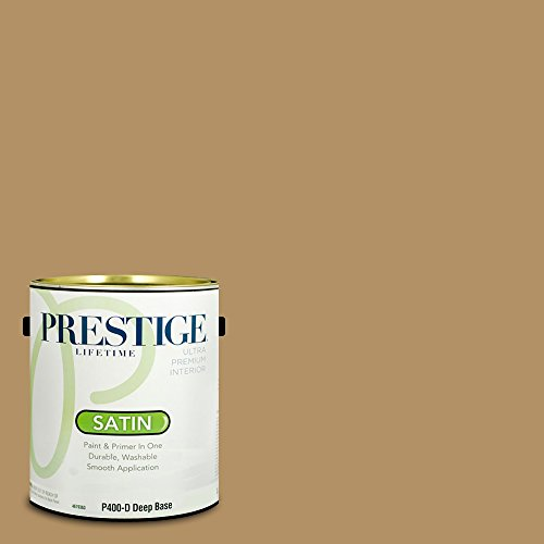 Prestige Paints P400-D-SW6123 Interior Paint and Primer in One, 1-Gallon, Satin, Comparable Match of Sherwin Williams Baguette, 1 Gallon, SW123-Baguette