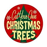 Past Time Signs RPC147 Christmas Trees Home And Garden Vintage Metal Sign