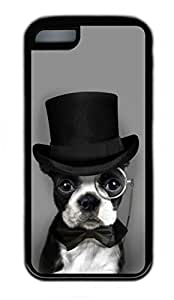 iPhone 5C Case, Personalized Protective Rubber Soft TPU Black Edge Case for iphone 5C - Handsome Dog Cover by lolosakes