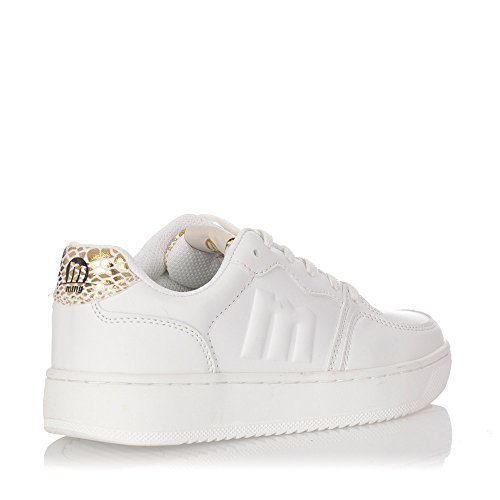 MTNG New Action - Zapatillas de deporte unisex Blanco-dorado