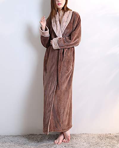 E Uomo Camicia Sauna Super Donna Notte Accappatoio Morbido Tinta Per Pigiameria E Collare Leggero V Caffè Unita Da 00SqnO8w