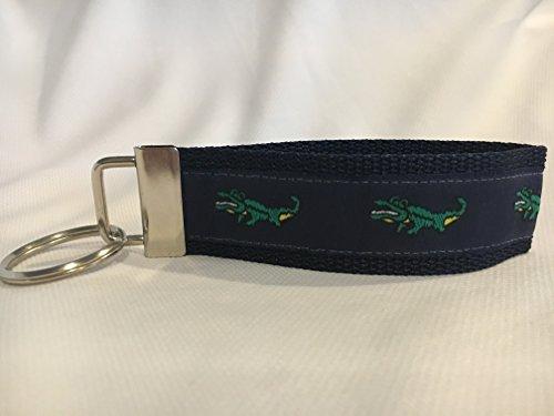 (Alligator Keychain, Alligator Gifts, Personalized Keychain, Custom Keychain, Preppy Keychain)