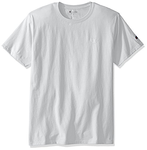 Champion Men's Classic Jersey T-Shirt, White, (Cotton Jersey Sport Shirt)