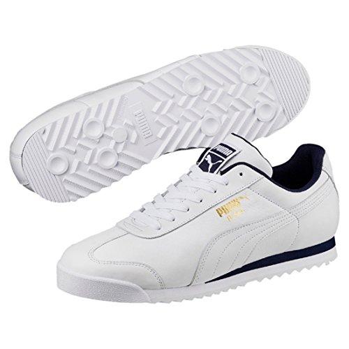 Sneaker Classic Puma Roma Dunkelblau Erwachsene Unisex Weiß qwB8RB1