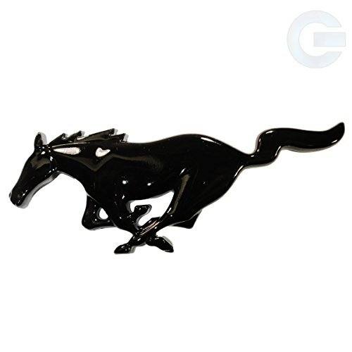 Ford Mustang Running Horse Emblem Badge - Black - Gt Fender Emblem
