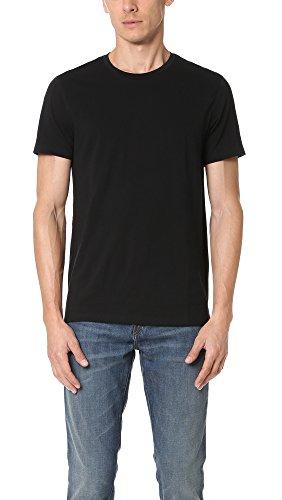 - Vince Men's Favorite Pima Cotton Short-Sleeve Crew-Neck T-Shirt, Black, Medium