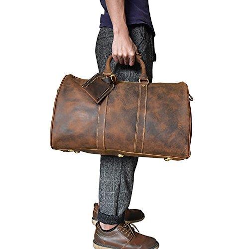 Mefly Bolsa De Viaje Bolsa De Equipaje De Mano El Equipaje De Mano Del Hombre Bolso Marrón Claro Light brown