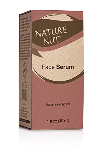 Nature Nut Face Serum + Moisturizing Face Cream - Based on Hyaluronic Acid, Jojoba Oil & Chia Seeds. clinically tested for sensitive skin, rich in Vitamin-E, Omega-3, 6 & 9. for all skin types