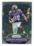 Adrian Peterson football card (Minnesota Vikings All Pro Running Back NFL) 2015 Prizm Chrome #28