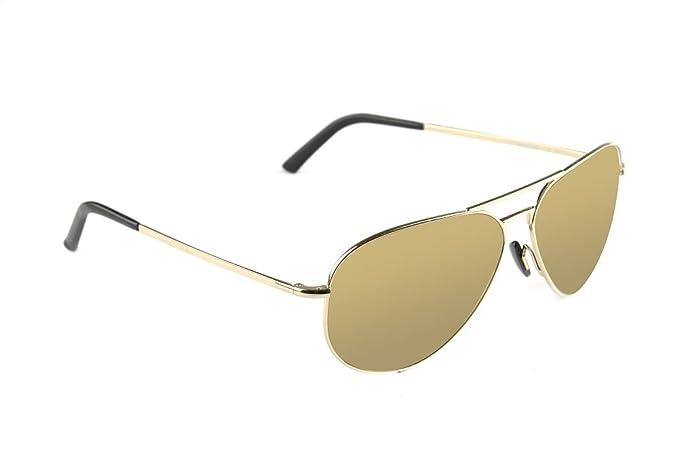 Porsche Design - Gafas de sol - para mujer dorado: Amazon.es ...