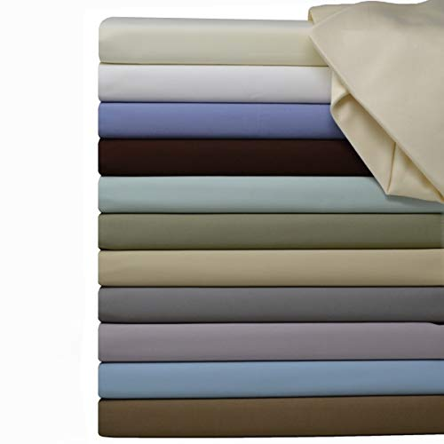 Royal Hotel Soft Cotton Fitted Sheet, 600 Thread Count, Silky Soft Fitted-Sheet, 100% Cotton Fitted, King, Ivory