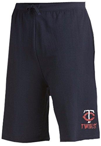 Majestic Minnesota Twins MLB Mens Cotton Shorts Navy Blue Big & Tall Sizes (3XT)