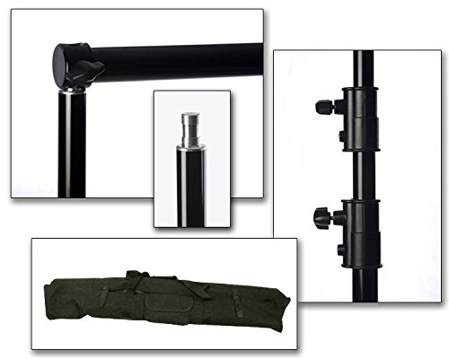 PROFESSIONAL PORTABLE TELESCOPING BACKGROUND BACKDROP SUPPORT STAND