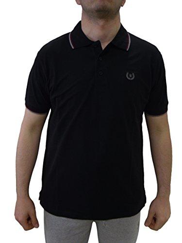 Be Board Sportliches Herren Poloshirt kurzarm Übergröße 100% Baumwolle Größe 4XL Farbe Schwarz