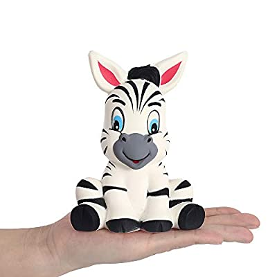 Anboor 5.3 Inches Squishies Zebra Kawaii Soft Slow Rising Scented Animal Squishies Stress Relief Kid Toys Gift Decoration Props: Toys & Games