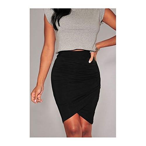 PriModas - Falda mu para combinarla con tu top favorita, mujer, 437107102, color: Negro, talla: Única