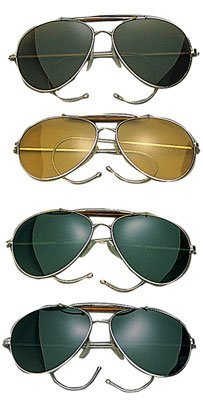 10200 Air Force Aviator Style Sunglasses (Green - Spec Military Sunglasses