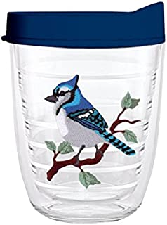 product image for Smile Drinkware USA-BLUE JAY 12oz Tritan Insulated Tumbler With Lid and Straw