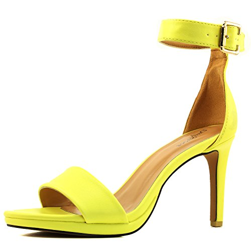 Yellow High Heel Pumps - 1
