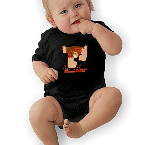 Waterhake Baby Boy Bodysuit, Wreck It Ralph Organic Baby Toddler Bodysuit Baby Clothes Black -