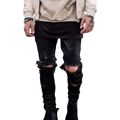 40 Da Chiaro Uomo Moda Blu Per Pantaloni Tempo Nero Slim Alla Il Abiti Strappati Comode Libero Jeans 27 Fit Taglie q5SxOUEwZ