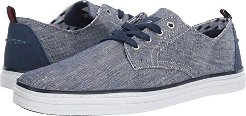 Ben Sherman Men's Bulldog Derby Sneaker, Navy Chambray, 10 M US