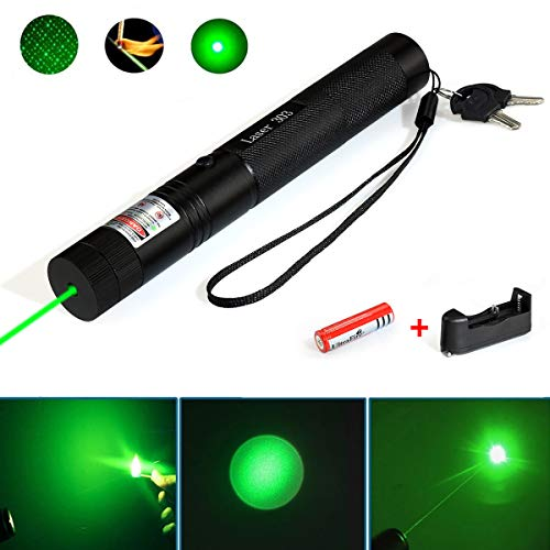 (Green Laser Pointer Tactical Hunting Rifle Scope Sight Laser Pen, Demo Remote Pen Pointer Projector Travel Outdoor Flashlight, LED Interactive Baton Funny Laser Toy)