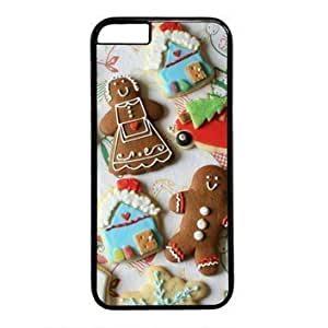"Case Cover For Apple Iphone 5C New Year Gingerbread Cookies Snowflakes Case Cover For Apple Iphone 5C "") PC Material Black"