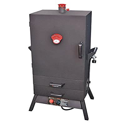 Landmann Smoky Mountain Premium 38 in. Vertical LP Gas Smoker with Two External Drawers Wide Body