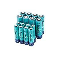 Batería AA y AAA de alto drenaje Tenergy, baterías combinadas de NiMH recargables de 1.2V, 8 celdas AA de 2600mAh y 8 pilas de AAA de 1000mAH