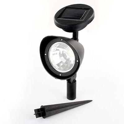 GenLed 4LED Solar Power Garden Lamp SpotLight Outdoor Lawn Landscape Path Waterproof Spotlight (Set of 2)
