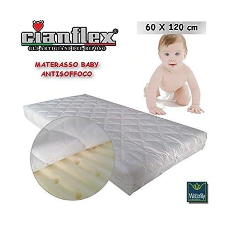 Materasso Culla Antisoffoco.Gianflex Materasso Lettino Baby Antisoffoco 60x120 Cm