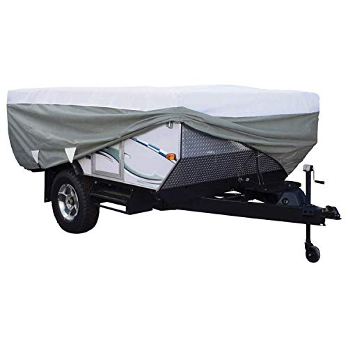 Classic Accessories OverDrive PolyPro 3 Deluxe Folding Camping Trailer Cover, Fits 14' - 16' Trailers (Best Small Pop Up Camper)